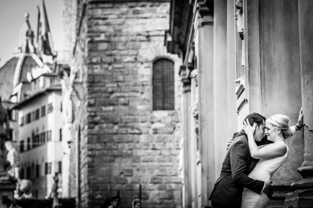 Paar beim After-Wedding-Shooting in Florenz