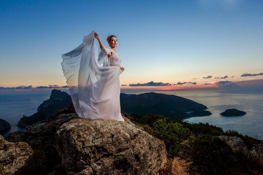 Brautshooting bei Sonnenaufgang