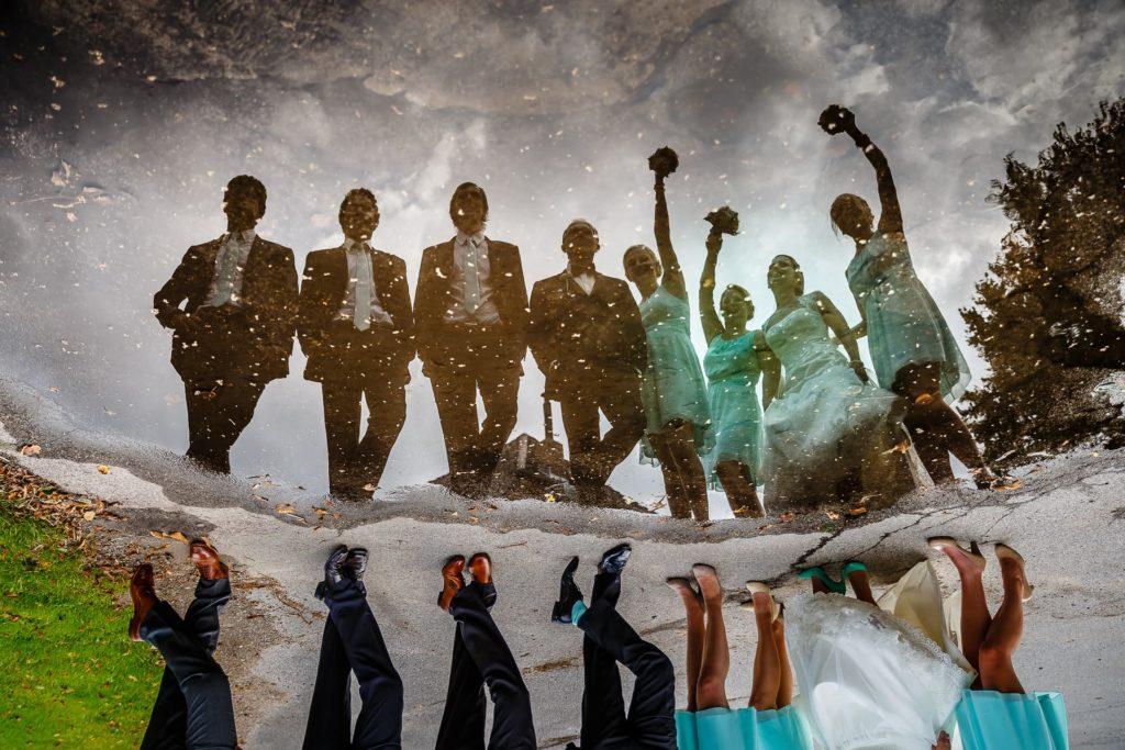 bridalparty - Brautpaar mit Freunden - Fotoreportage am Hochzeitstag von Fotograf Axel Breuer