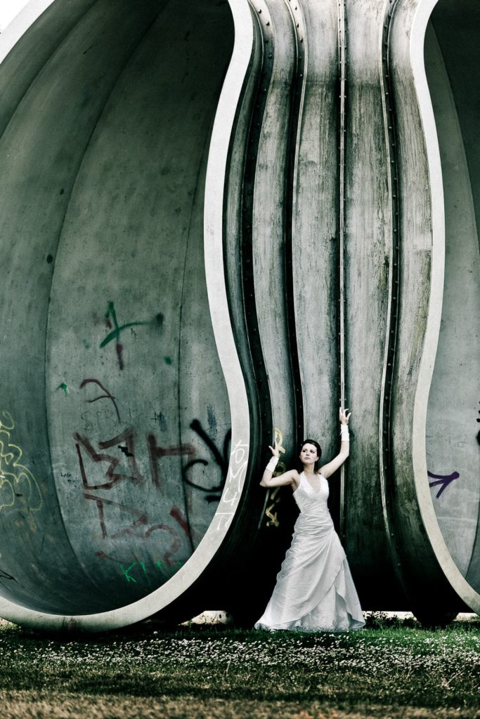 Trash-the-dress-Shooting-von Axel Breuer Hochzeitsfotografie
